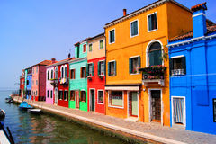 Цветастое Burano, Италия Стоковое Фото