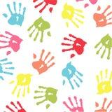 цветастое handprint Стоковые Изображения RF