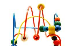 цветастое labirinth над белизной Стоковая Фотография RF