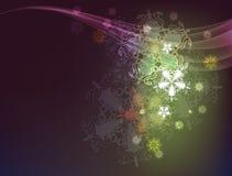 цветастое snowflack 3 Стоковое Изображение