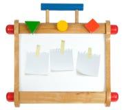 цветастое whiteboard деревянное Стоковое Изображение RF
