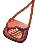 цветастой белизна хлопка 2 изолированная сумкой Стоковое Изображение RF