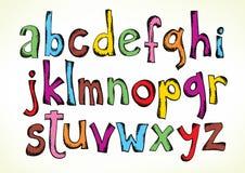 Doodled письма алфавита Стоковое Фото