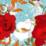 цветастые безшовные обои лета Стоковая Фотография RF