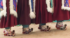 цветастые ботинки Стоковые Фотографии RF