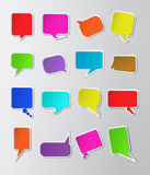 цветастые бумажные пузыри речи Стоковая Фотография