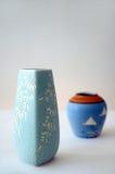 цветастые вазы Стоковое Фото