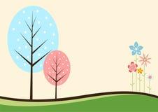 цветастые валы цветков Стоковое Фото