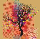 цветастые валы иллюстрация штока
