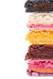 цветастые вкусные свежие macaroons Стоковое Изображение RF