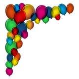 Цветастые воздушные шары Стоковые Изображения