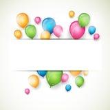 Цветастые воздушные шары Стоковое Изображение