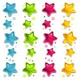 цветастые глянцеватые звезды Стоковые Изображения