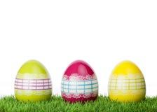 Цветастые декоративные пасхальные яйца Стоковое фото RF