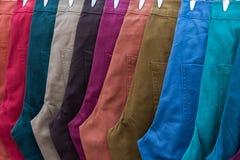 цветастые джинсыы Стоковое Изображение RF