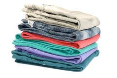 Цветастые джинсы стоковое фото rf