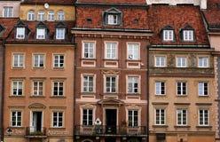цветастые дома фасада Стоковое Изображение