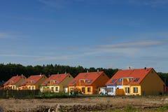 цветастые дома стоковые изображения rf