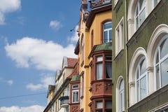 цветастые европейские дома Стоковые Фотографии RF
