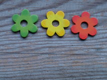 Деревянные цветки Стоковая Фотография