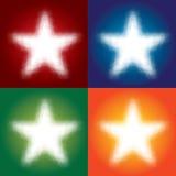 цветастые звезды Стоковое Фото