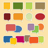 Цветастые знамена пузыря беседы Стоковая Фотография RF