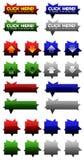 Цветастые значки сеты стоковое изображение rf