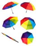 цветастые зонтики Стоковое Изображение RF