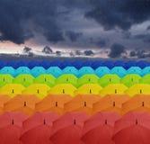 Цветастые зонтики Стоковое Фото