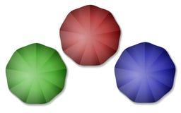 цветастые зонтики бесплатная иллюстрация