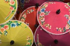 цветастые зонтики Стоковое фото RF