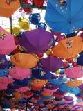 цветастые зонтики стоковая фотография rf