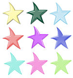 цветастые изолированные звезды стоковое фото