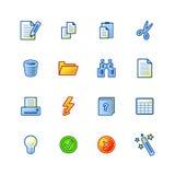 цветастые иконы документа Стоковые Изображения RF