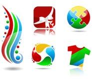 Цветастые иконы Стоковое Изображение RF