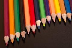 цветастые карандаши стоковое изображение rf