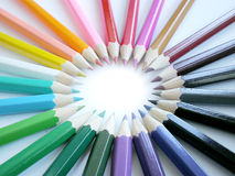 цветастые карандаши Стоковая Фотография