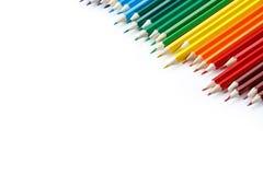 Цветастые карандаши изолированные на белой предпосылке Стоковое Изображение RF
