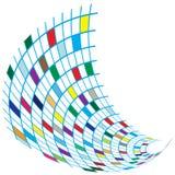 цветастые квадраты летания влияния иллюстрация вектора