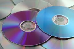 цветастые компакты-диски Стоковые Фото