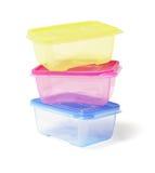 цветастые контейнеры пластичные Стоковая Фотография