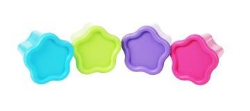 цветастые контейнеры пластичные Стоковое Изображение RF