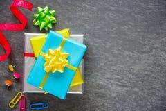Цветастые коробки подарка Стоковое Фото