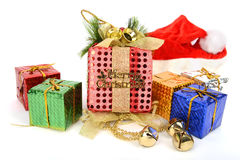 Цветастые коробки подарка Стоковая Фотография RF