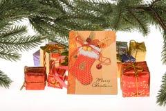 Цветастые коробки подарка Стоковые Фото