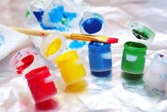 цветастые краски Стоковые Фото