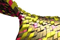 цветастые кубики лоснистые Иллюстрация вектора