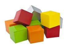 Цветастые кубики Стоковое фото RF