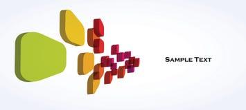 цветастые кубики 3d Стоковые Изображения