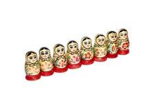 цветастые куклы гнездясь русский Стоковая Фотография